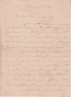 974 - ILE DE LA REUNION - LETTRE MANUSCRITE DE 1918  SIGNEE PAYET A SA CHERE FIANCEE - Documentos Históricos