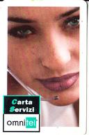 ITALY - Girl, OMNITEL Service Prepaid Card L.10000/5.16 Euro, Exp.date 30/11/03, Used - Telecom Operators