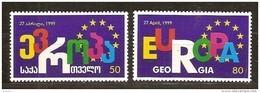Georgie Georgia 1999 Yvertnr 238-239 *** MNH Cote 4,50 Euro  Conseil De L' Europe - Géorgie