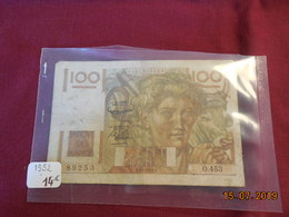 Billet De 100 F De 1952 - 100 F 1945-1954 ''Jeune Paysan''