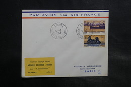 NOUVELLE CALÉDONIE - Enveloppe 1er Vol Direct Nouvelle Calédonie / France En 1953 - L 34852 - Cartas