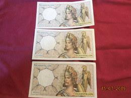 Billet échantillon De La Banque De France (vrai Papier Monnaie) 4 Exemplaires - Fictifs & Spécimens