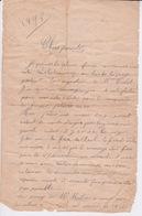 974 - ILE DE LA REUNION - LETTRE MANUSCRITE DE 1898 SIGNEE PAYET - Documentos Históricos