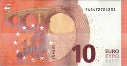 ! 10 Euro, FA2472704235, F002H1, Currency, Money, Geldschein, Banknote , Mario Draghi, EZB, ECB, Europäische Zentralbank - EURO