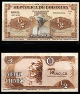 B3-COLOMBIA - 2000`S PRIVATE CURRENCY. $ 1/2 CHIMBO - BANKNOTE USED ON A COFFE FARM IN CALARCA, QUINDIO DEPARTMENT - Colombia
