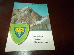 B730  Alpini Julia Viaggiata Pieghina Angolo - Militari