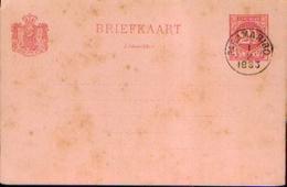 SURINAME  - Carte Postale Avec Oblitération « PARAMARIBO 01/02/1893 » - Surinam