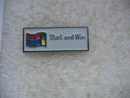 Pin's Informatique: Window, Start And Win - Computers