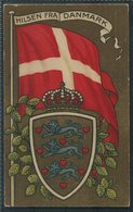 """Denmark Flag, Coat Of Arms, """"Hilsen Fra Danmark"""" Postcard. - Denmark"""