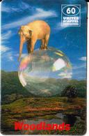 FRANCE - Elephant, Woodlands Prepaid Card 60 Unites, Exp.date 31/08/98, Used - France