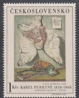 ART PAINTING GEMÄLDE - KAREL PURKYNE - SNOW OWL SCHNEEEULE Chouette De Neige CZECHOSLOVAKIA 1966 MNH   MI 1670 - Künste