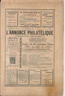 """L'Annonce Philatélique N°73 Décembre 1906 """"Les Têtes-Bêches"""" Français - Magazines"""