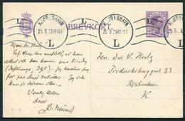 1923 Denmark 15 Ore Stationery Postcard (68 - H) Copehagen. Botanic Museum Meeting - Covers & Documents