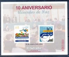 G24- EL SALVADOR 2002. 10th ANNIVERSARY OF THE PEACE AGREEMENTS. - El Salvador