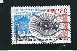 2904 Bicentenaire Du Conservatoire Des Arts Et Métiers  Timbre France  Oblitéré 1994 - France
