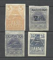 Estland Estonia 1919 Seagull Möwe Michel 5 & 10 & 11 & 20 * - Estland