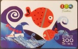 Mobilecard Thailand - 12Call - Sternzeichen,Zodiac - Fisch - Thailand