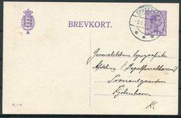1922 Denmark 15 Ore Stationery Postcard (65 - H) Sonderberg - Copenhagen - Covers & Documents
