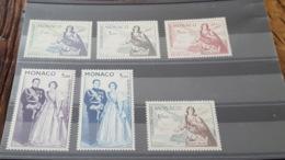 LOT 462829 TIMBRE DE MONACO NEUF** LUXE N°73 A 78 - Airmail