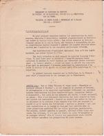 974 - ILE DE LA REUNION - REGLEMENT DU CONCOURS DE DESSINS PHOTOS MAQUETTES OUVERT PAR LA PREFECTURE ST DENIS - Documentos Históricos