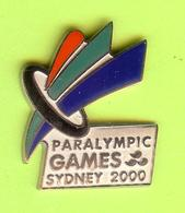 Pin's JO Paralympic Games Sydney 2000 - 6GG10 - Olympic Games