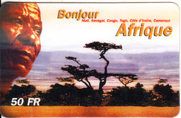 FRANCE - Bonjour Afrique Prepaid Card 50 F, Exp.date 25/12/00, Used - France
