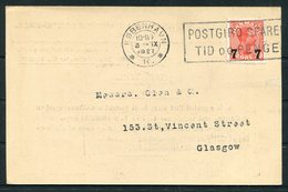 1927 Denmark Baltic & International Maritime Conference Copenhagen Postcard - Glasgow. Garston Dock, Liverpool Ship - Covers & Documents