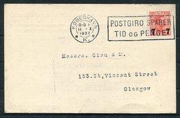 1927 Denmark Baltic & International Maritime Conference Copenhagen Postcard - Glasgow. Timber Shipping - Hull Docks - Covers & Documents
