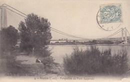 Aramon, Gard, Perspective Du Pont Suspendu (pk61015) - Aramon