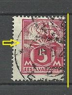 Estland Estonia 1922 Michel 37 A Perforation Swift ERROR Abart Variety O - Estland