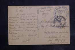 """BELGIQUE - Cachet """" Armée Belge D 'Occupation"""" Sur Carte Postale En FM En 1919 Pour La France - L 34872 - Poststempels/ Marcofilie"""