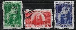 Russie 1934 N°Y.T. ;  523,525 Et 526 Obl. - 1923-1991 USSR