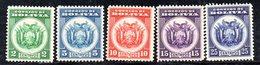 APR1844 - BOLIVIA 1933 ,  Serie Yvert N. 184/188  ***  MNH  (2380A) - Bolivia