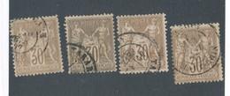 FRANCE - N° 69X4 OBLITERES - COTE : 40€ - 1876 - 1876-1878 Sage (Type I)