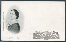 Denmark Den Nya Tiden. Inregistreradt Postcard. Johanne Louise Heiberg - Politicians & Soldiers