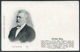 Denmark Den Nya Tiden. Inregistreradt Postcard. Christen Berg - Politicians & Soldiers