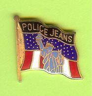 Pin's Drapeau Police Jeans (Statue De La Liberté) - 6GG19 - Police