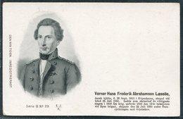 Denmark Den Nya Tiden. Inregistreradt Postcard. Verner Hans Frederik Abrahamson Laessoe - Politicians & Soldiers