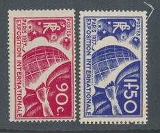 FRANCE - N° 326/27 NEUFS* AVEC CHARNIERE - COTE : 50€50 - 1936 - Neufs