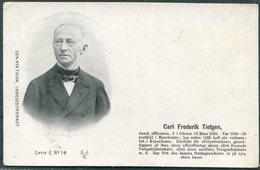 Denmark Den Nya Tiden. Inregistreradt Postcard. Carl Frederik Tietgen - Politicians & Soldiers