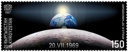 Kyrgyzstan 2019 1 V MNH Apollo XI: 50th Anniversary Space Espace - Ruimtevaart