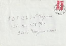 """Oblitération Manuelle : """"Brive à Paris B"""" Du 12-07-1990 (Marianne Du Bicentenaire Roulette) - Spoorwegpost"""