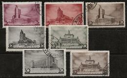 Russie 1937 N°Y.T. ;  596 à 601 Et 603 Obl. - 1923-1991 USSR
