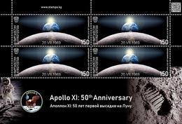 Kyrgyzstan 2019   MS MNH Apollo XI: 50th Anniversary Space Espace - Ruimtevaart