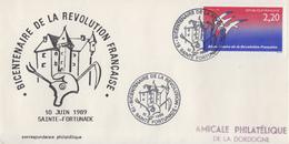 Enveloppe  FRANCE    Bicentenaire  De  La   REVOLUTION      SAINTE  FORTUNADE    1989 - Franz. Revolution