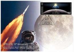Kyrgyzstan 2019  FDC Apollo XI: 50th Anniversary Space Espace - Ruimtevaart