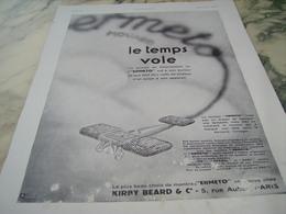 ANCIENNE PUBLICITE LE TEMPS VOLE  MOVADO  1930 - Joyas & Relojería