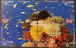 4 Opt. Telefonkarten Thailand - Unterwasserwelt - Fisch - Koralle - Thailand
