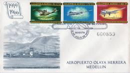 Lote 1107-11-12F, Colombia, 1965-6, SPD-FDC, Historia De La Aviacion En Colombia, Air History, Douglas, Dornier - Colombia
