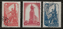 Russie 1938 N°Y.T. ;  614 à 616 Obl. - 1923-1991 USSR